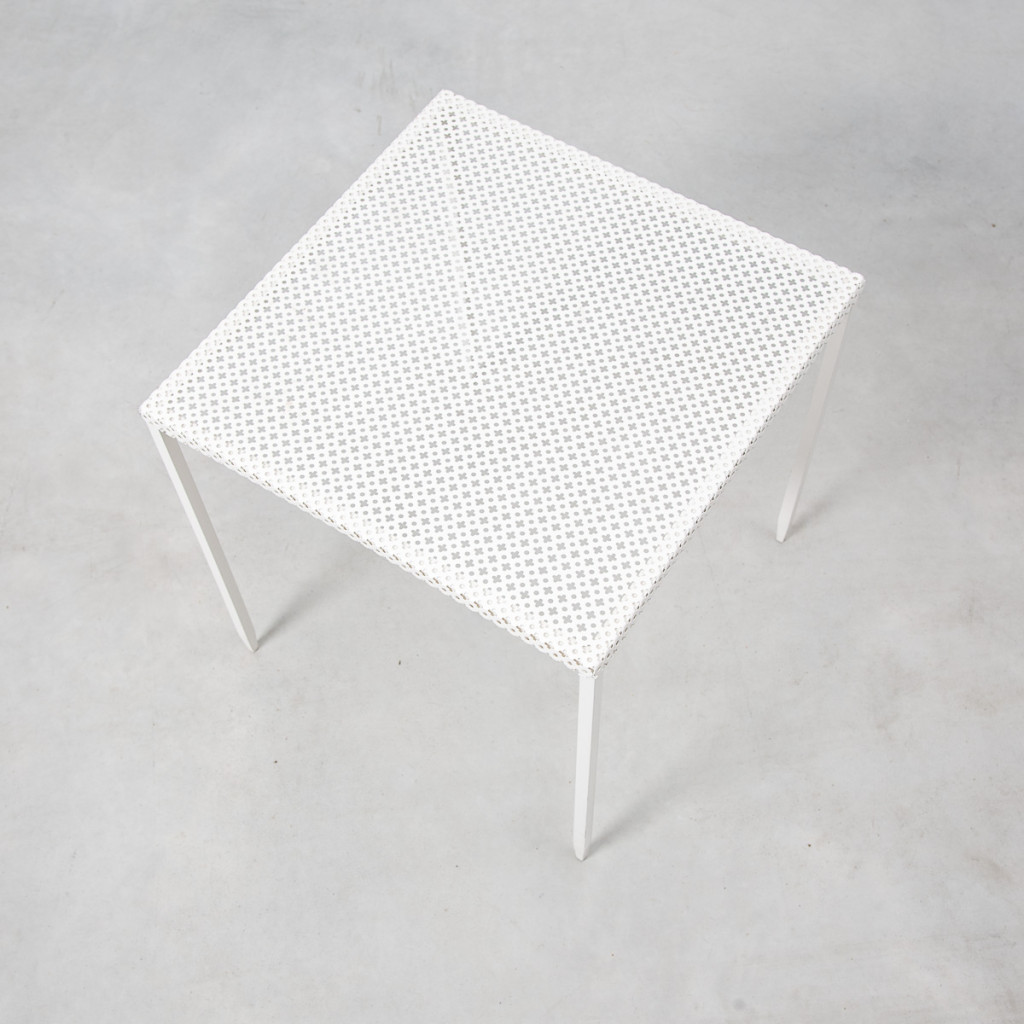 white perforated metal tables b ton brut. Black Bedroom Furniture Sets. Home Design Ideas