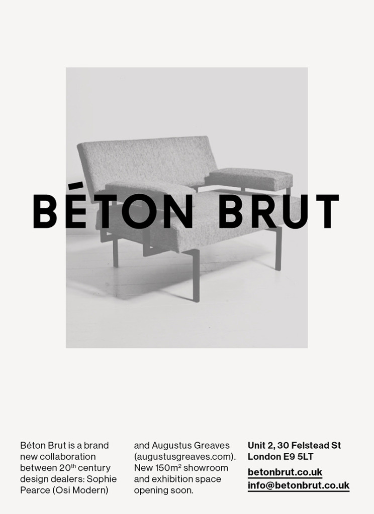 Béton Brut gallery, coming soon…