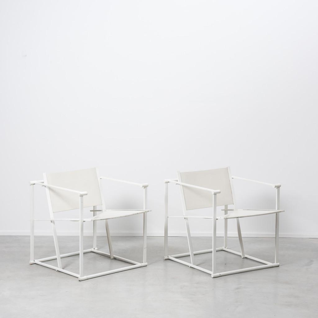 Radboud Van Beekum White Fm60 Cube Chairs B 233 Ton Brut