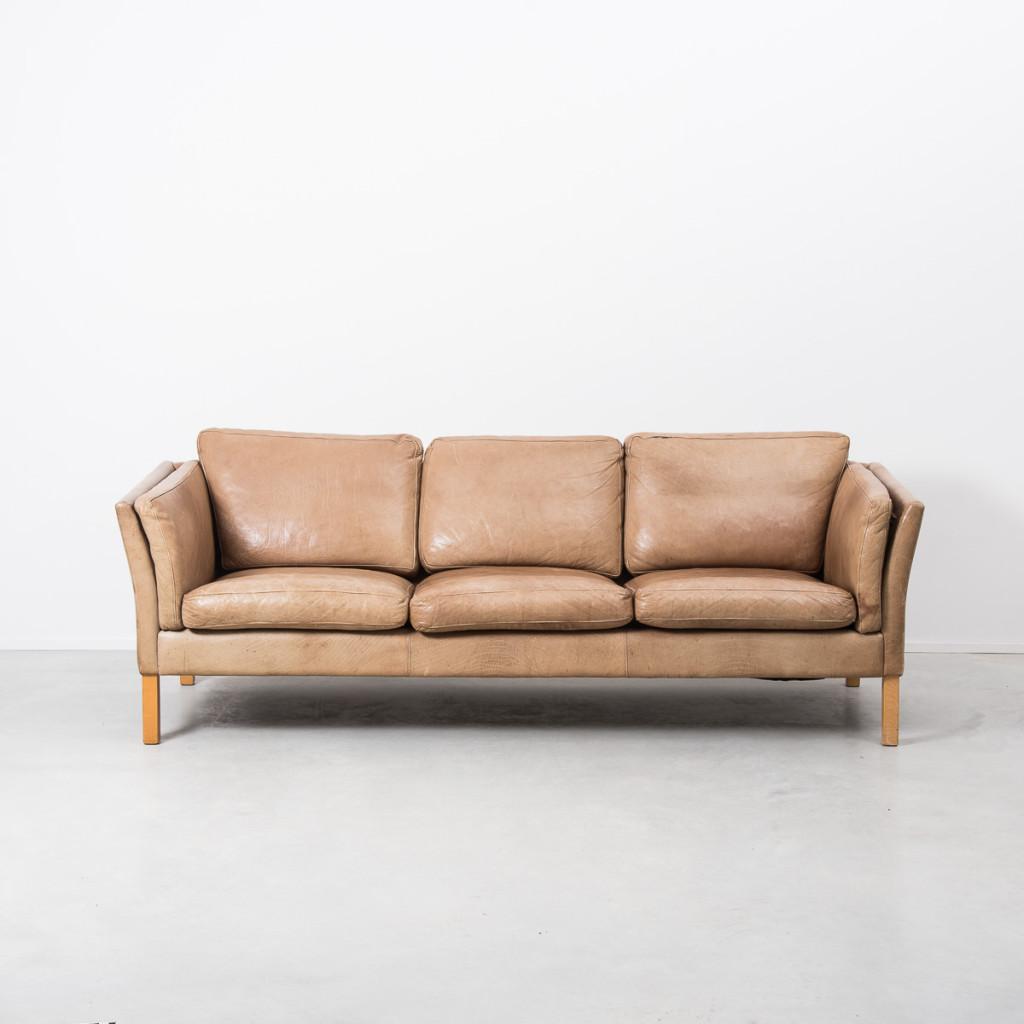 Tan Leather Sofas Sale Uk: Erik Jørgensen Tan Leather 50s Danish Sofa