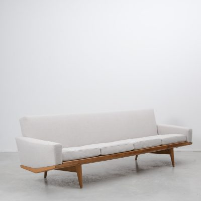 h w klein four seater sofa teak frame 1960 b ton brut. Black Bedroom Furniture Sets. Home Design Ideas
