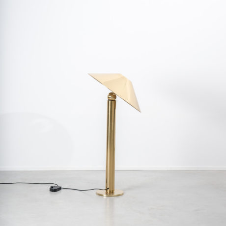 Midcentury conical brass floor lamp