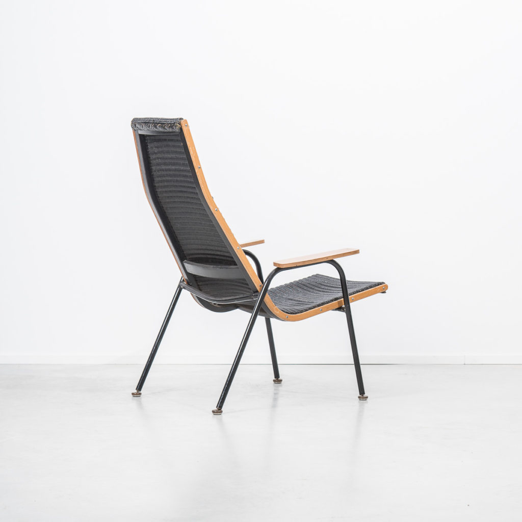 Rare modernist Lloyd Loom armchair