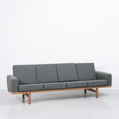 Hans J Wegner Ge236 4 Oak Sofa Beton Brut