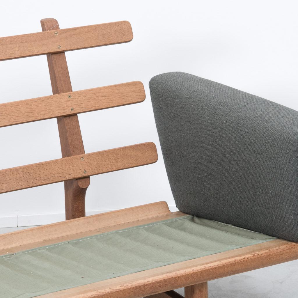 Hans J Wegner GE236/4 oak sofa