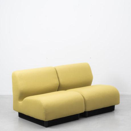 Don chadwick yellow modular sofa