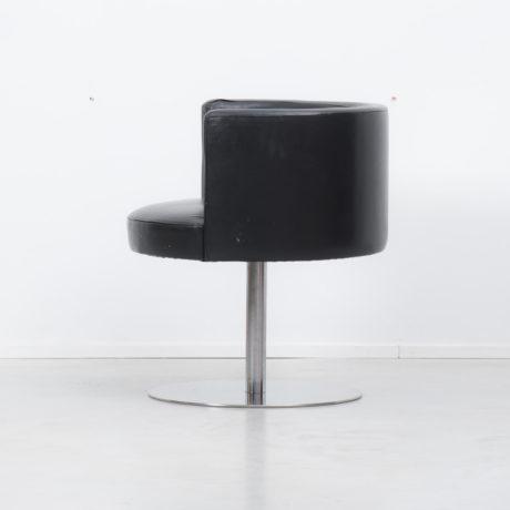 An Italian swivel desk chair