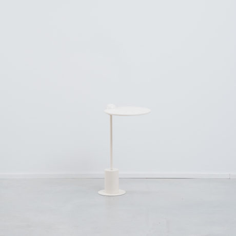 White 1980s postmodern side table