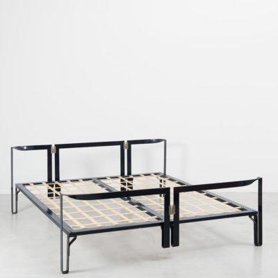 Tobia Scarpa Vanessa metal bed frame, Gavina, Italy