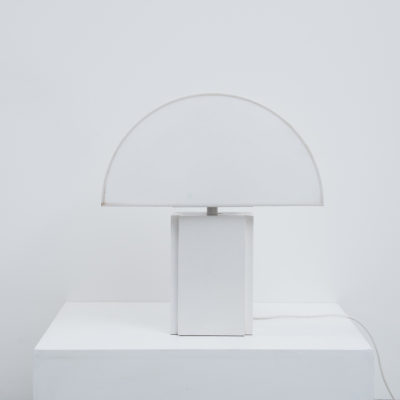 Harvey Guzzini Olympe table lamp white, Italy 1970