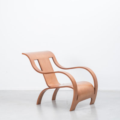 Gerald Summers plywood armchair, italian reedition for 1998.