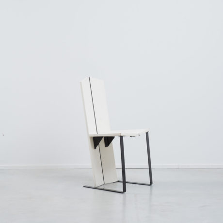 White De Stijl side chair