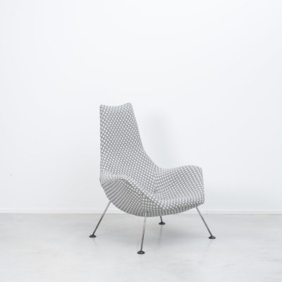 Ernest Race armchair in Pierre Frey fabric