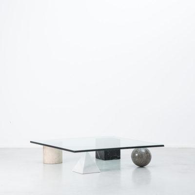 Massimo and Lella Vignelli marble Metafora 1950s italian marble coffee table