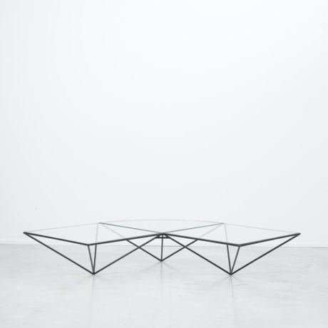 Dutch glass corner coffee table
