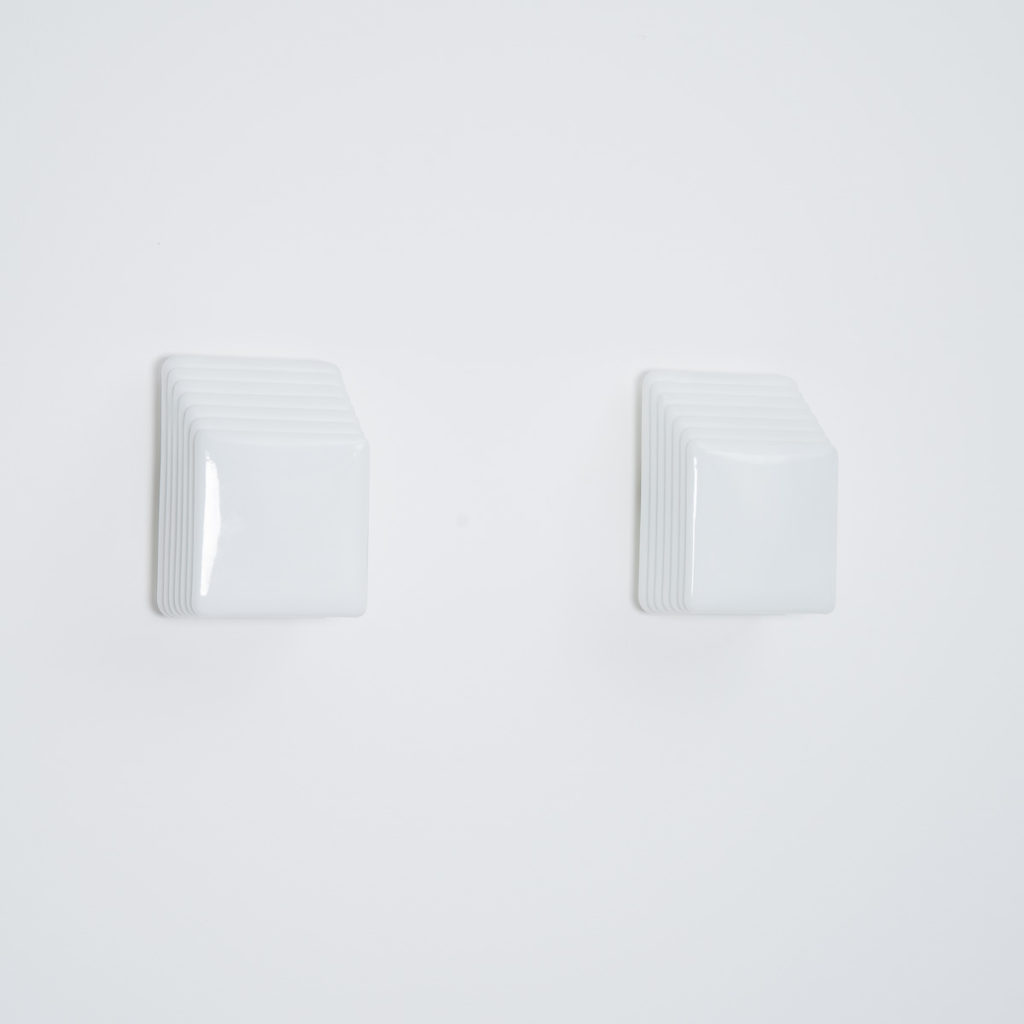 Pair Ketri Murano opaline wall lights