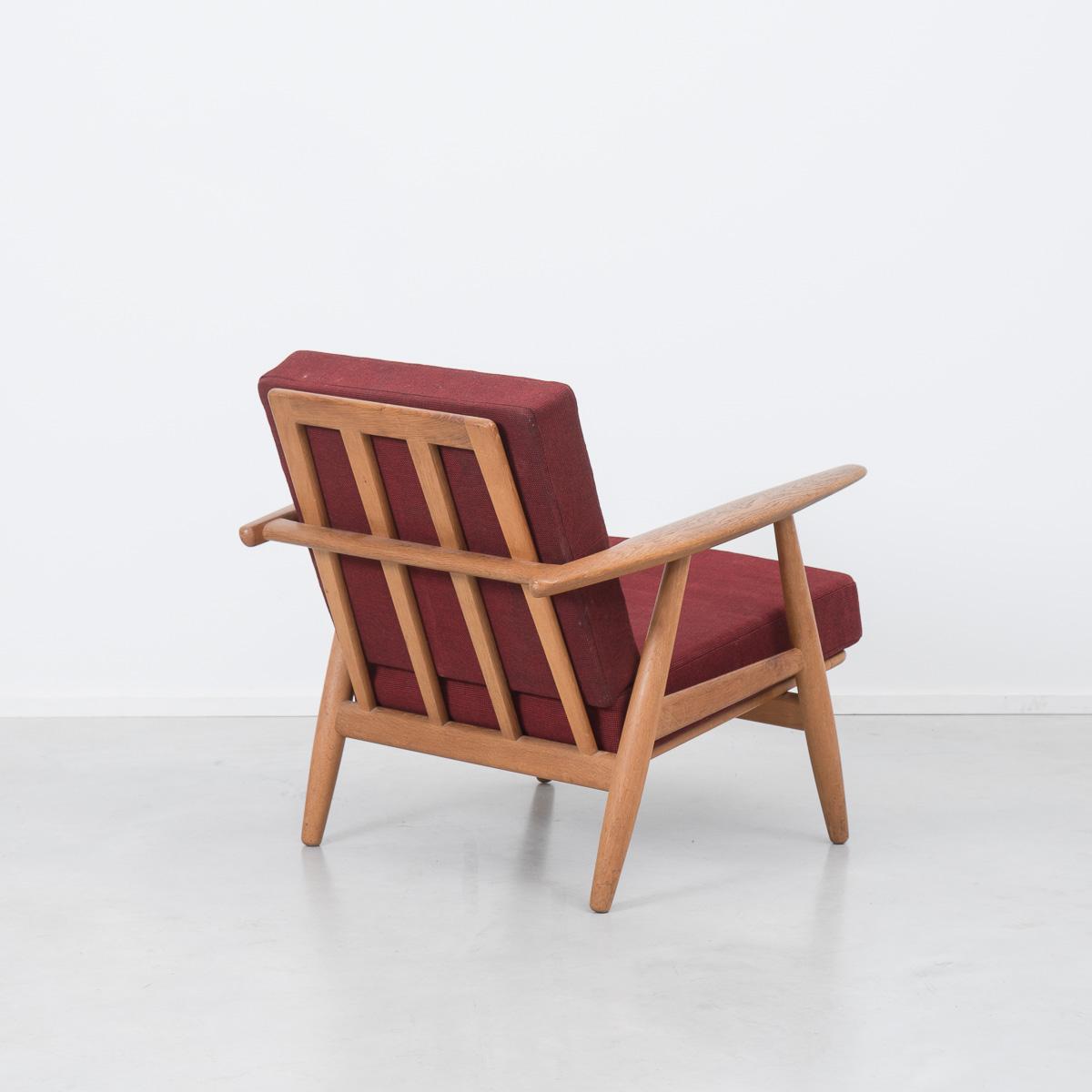 no code hans wegner plank chair 6 béton brut