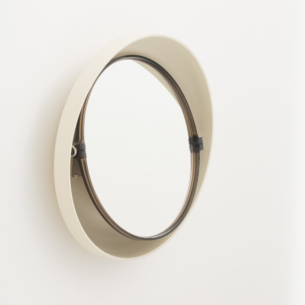 1960s Illuminated round plastic mirror