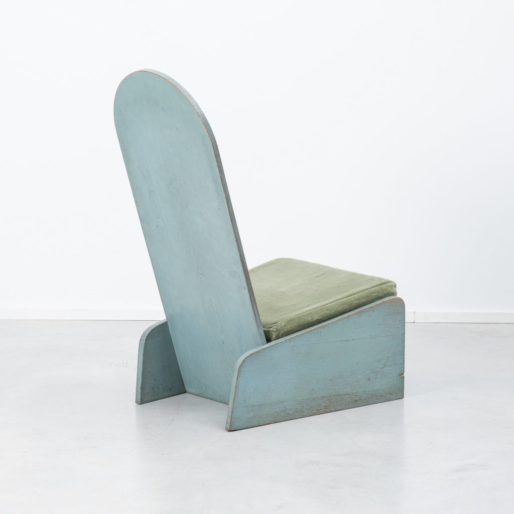Green painted constructivist chair