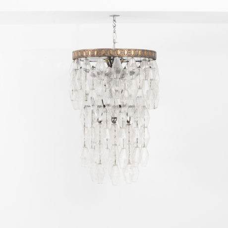 Polyhedral glass chandelier Venini att.
