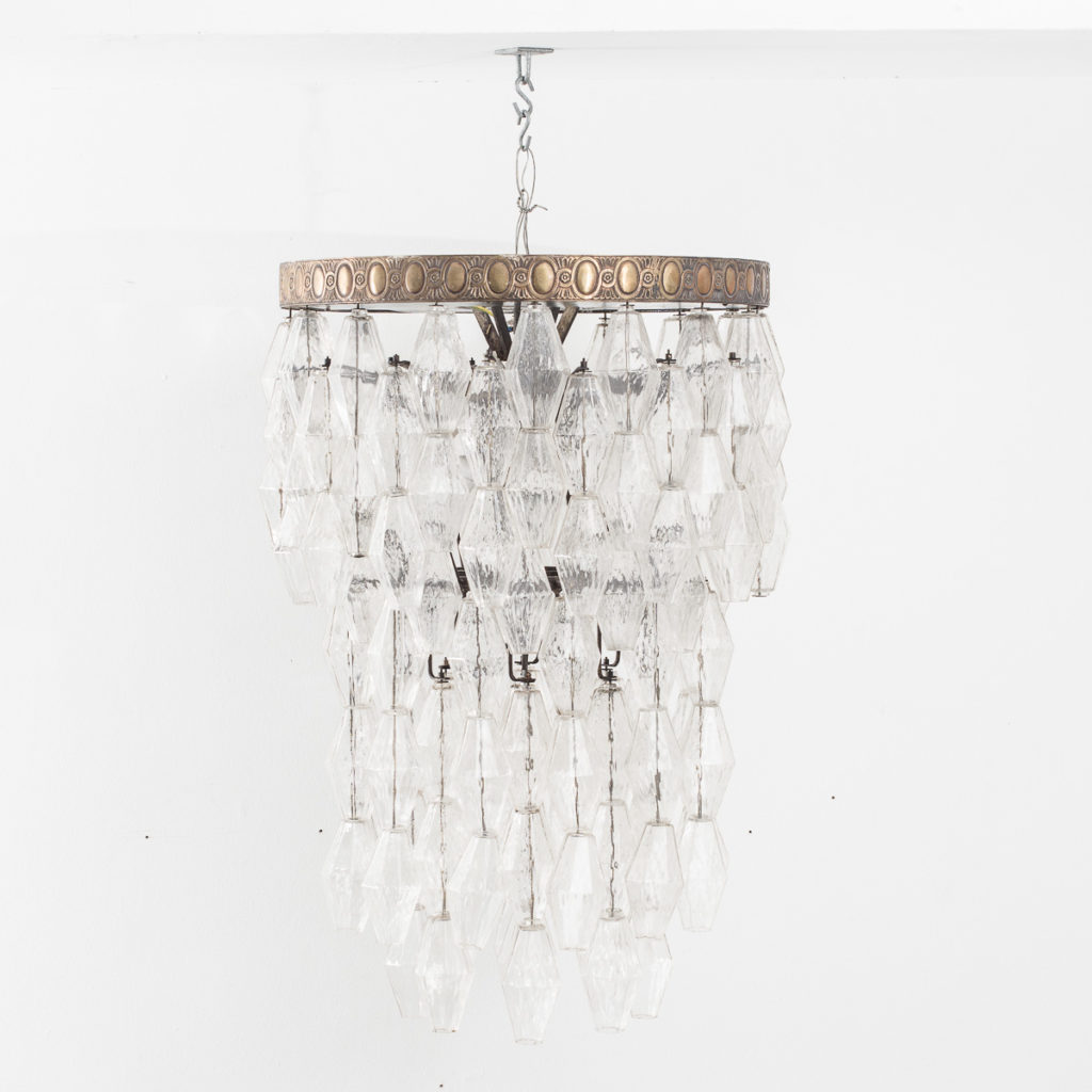 Polyhedral glass chandelier venini att bton brut polyhedral glass chandelier venini att arubaitofo Images
