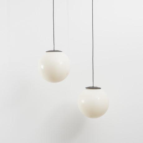 Plastic globe pendant lamps