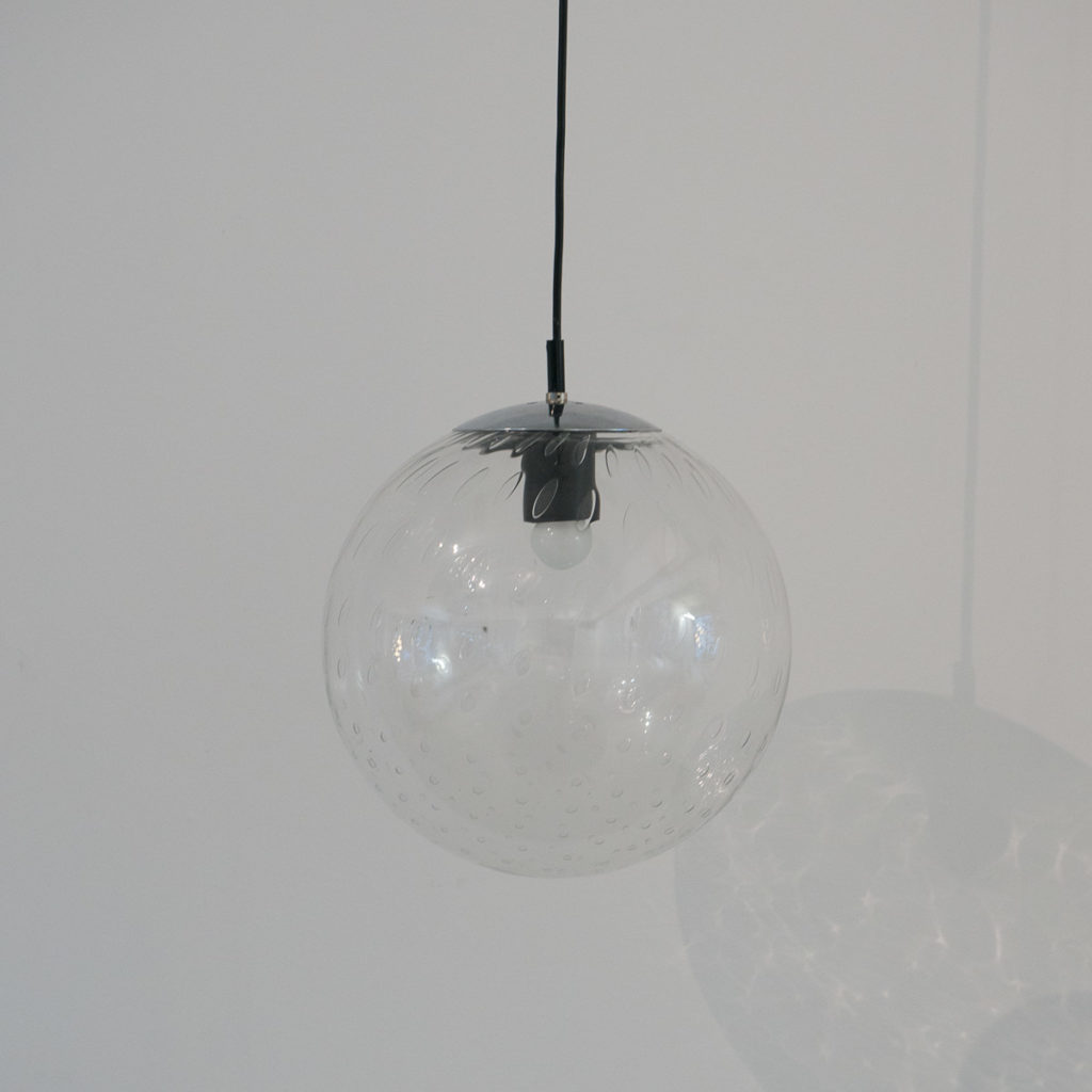 Glass globe pendants