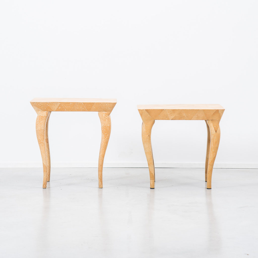 Pair of Scumble glaze tables