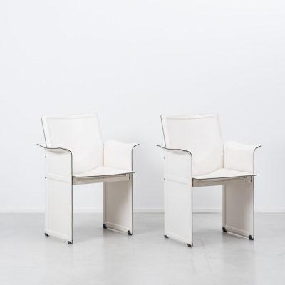 White Tito Agnoli Korium KM1 chair