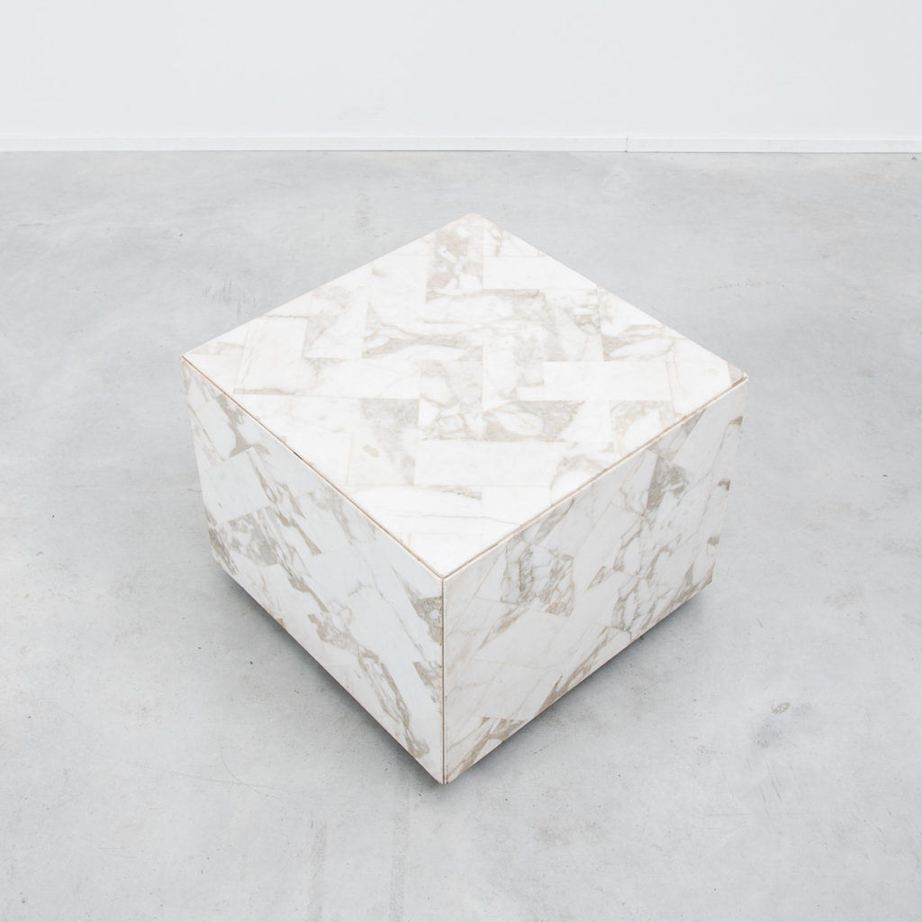 Pair of marble display/side tables