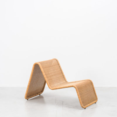 Tito Agnoli rattan easy chair