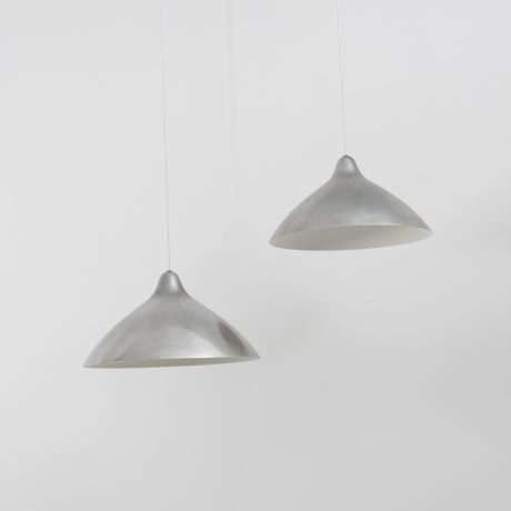 A Set Of Four Lisa Johansson-Pape Chrome Pendants