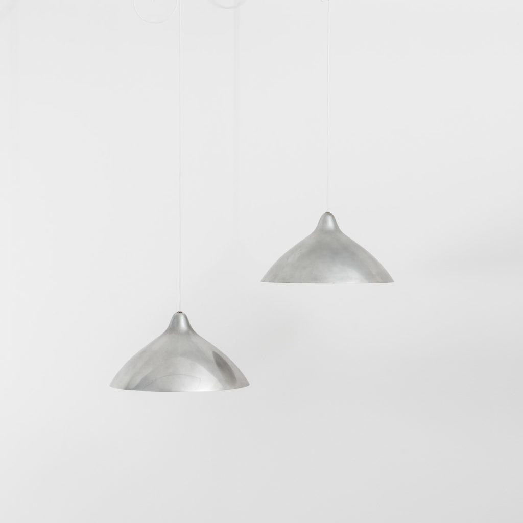 A Set Of Four Lisa Johansson-Pape Chrome Pendants