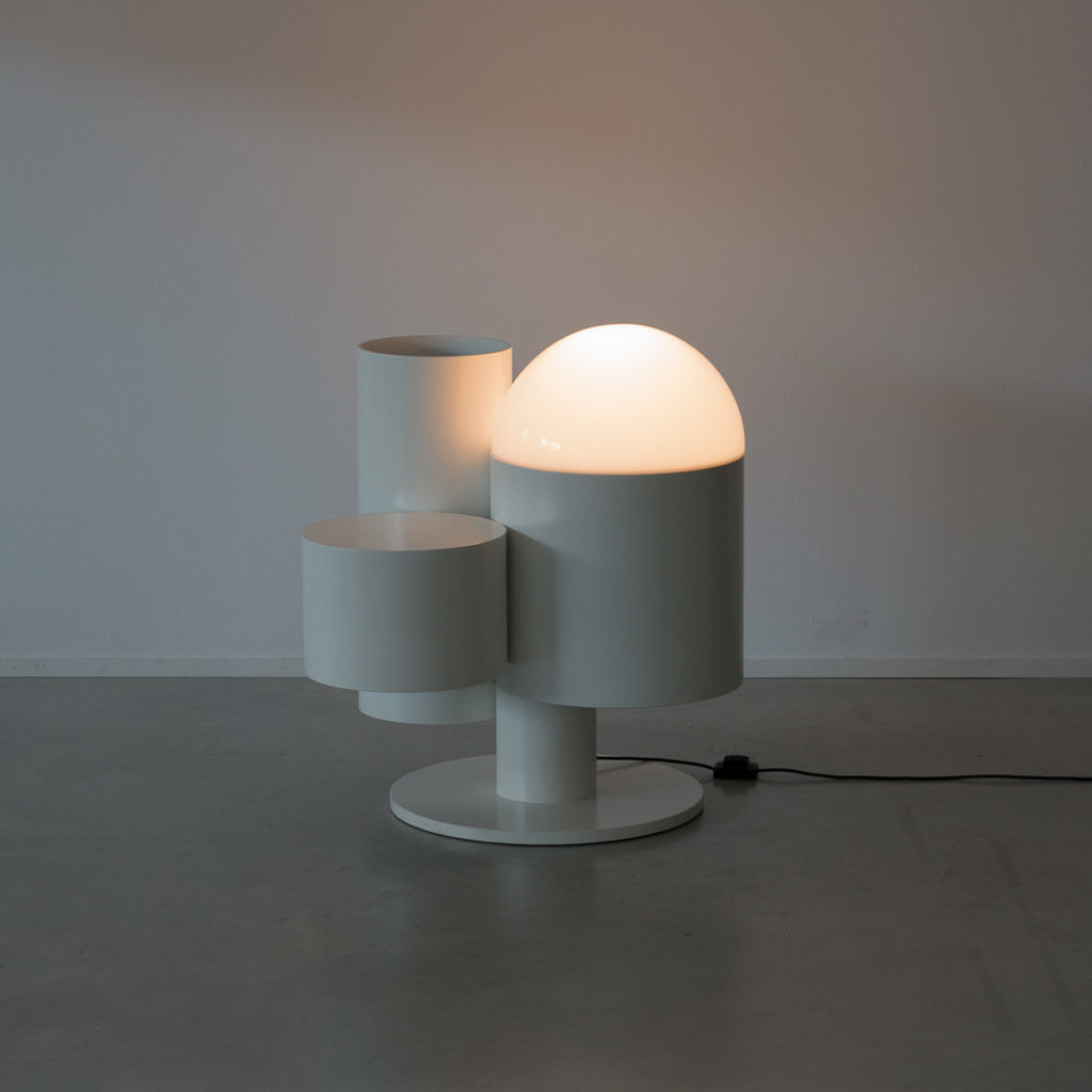 Close Encounter lamp and plant stand