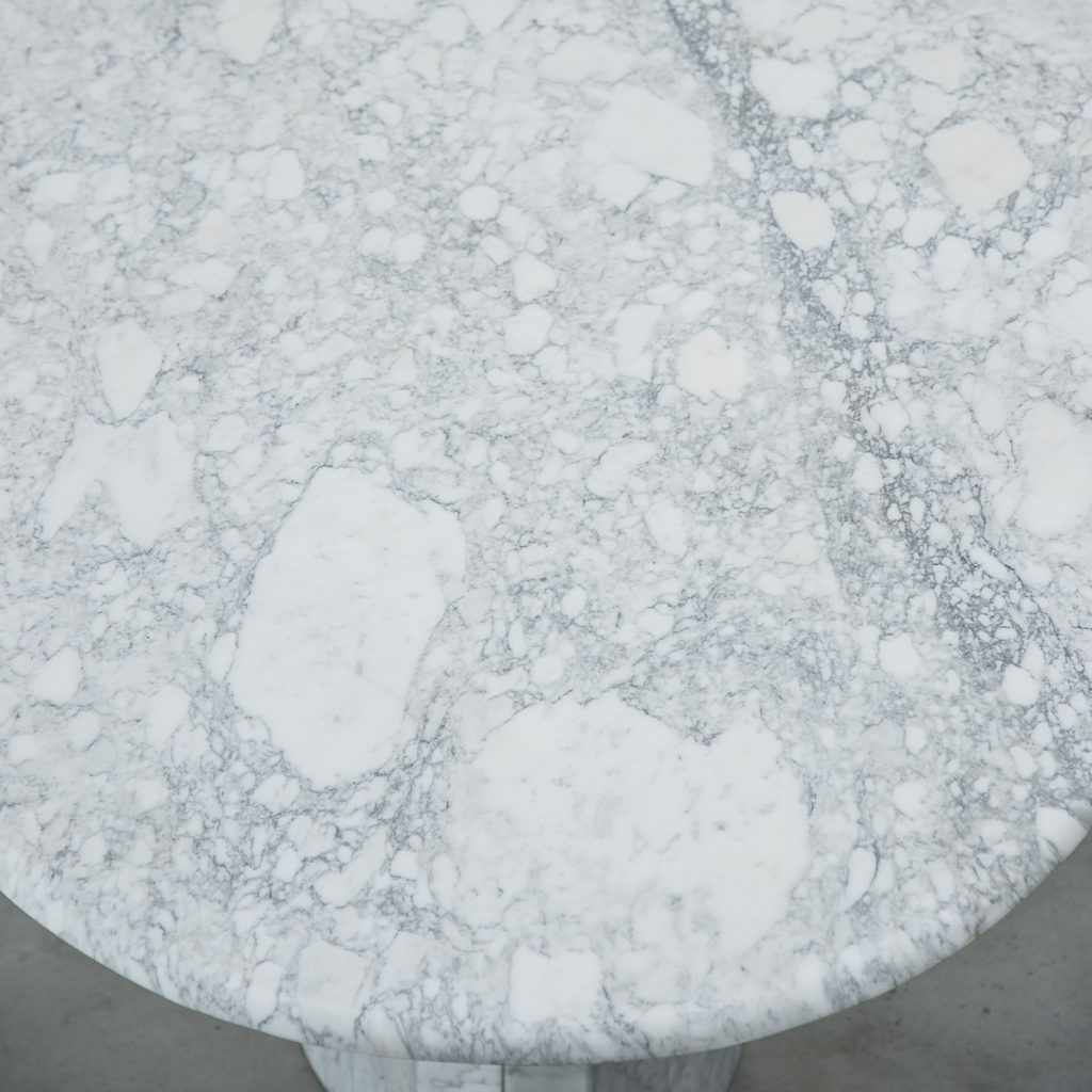 Oval Arabescato marble dining table