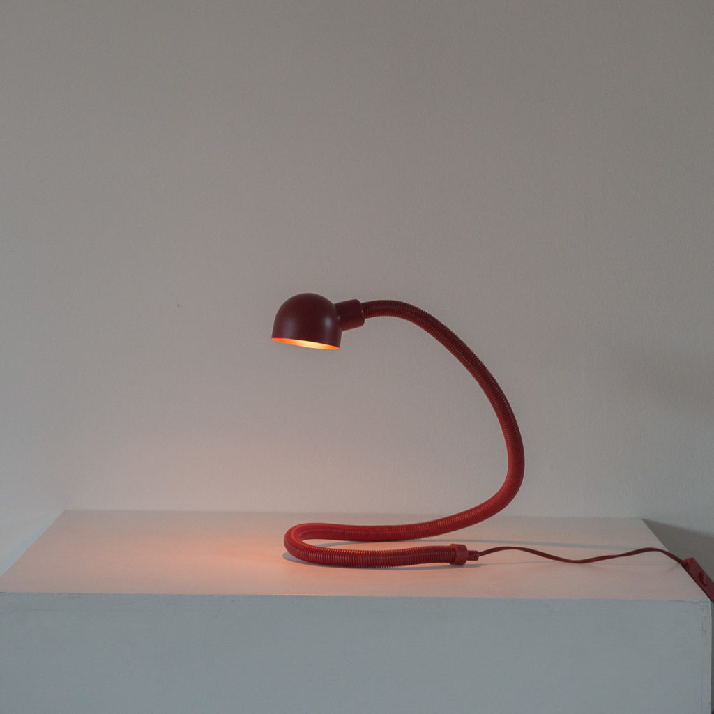 Isao Hosoe red Hebi Serpent lamp