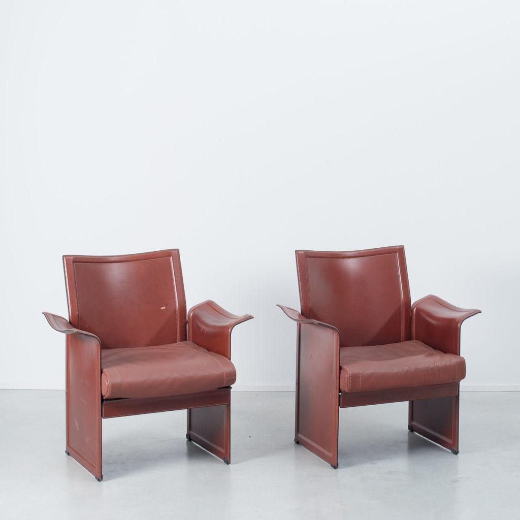 Pair Agnoli Korium armchairs
