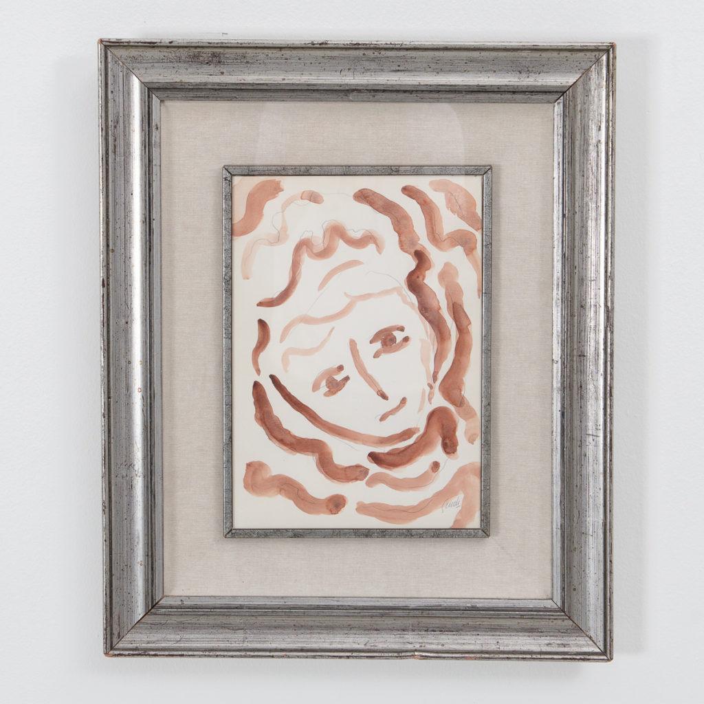 Virgilio Guidi painting, framed