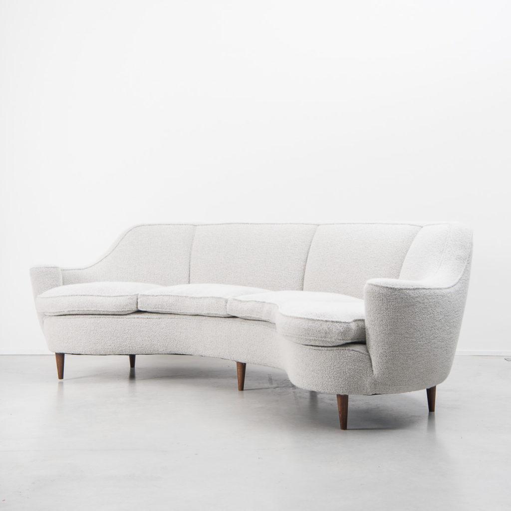 1950s Italian curved sofa