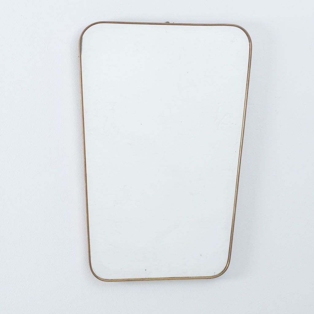 Tapered Italian brass mirror