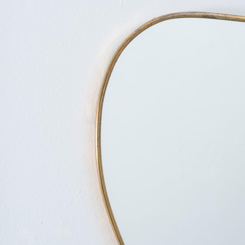 Small Brass Italian Kidney mirror