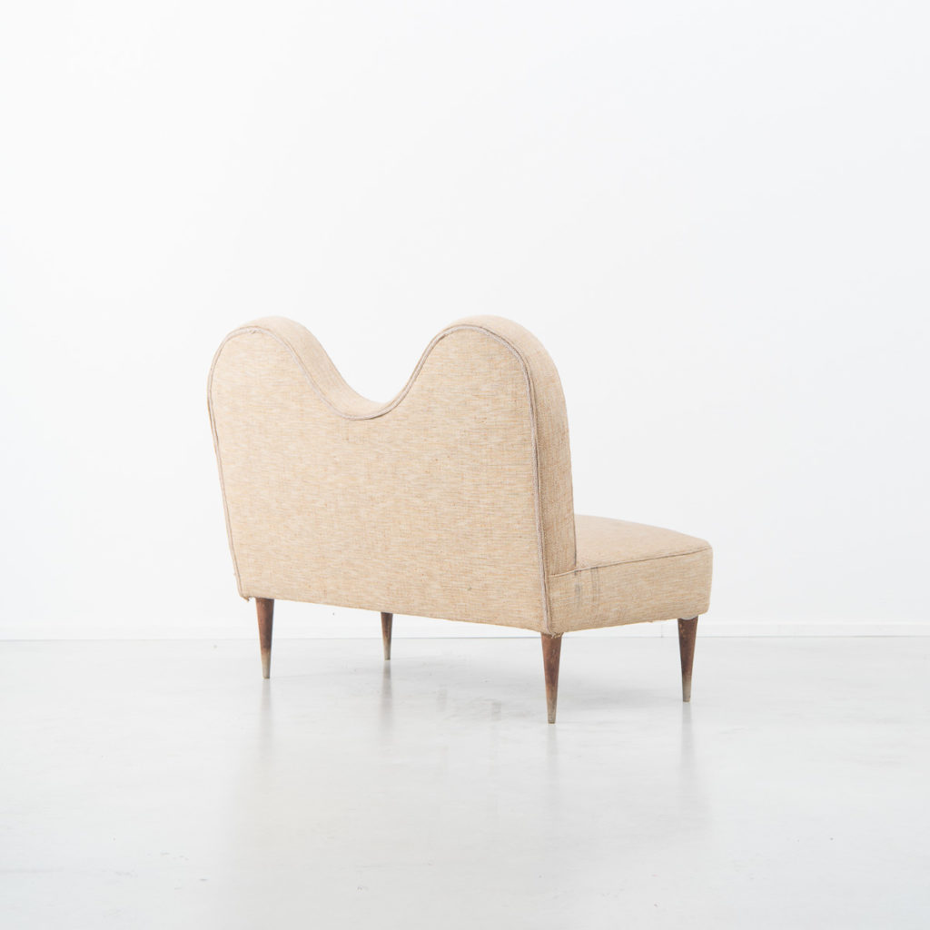 Cesare Lacca attr. wavy love seat
