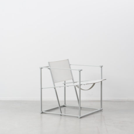 Radboud Van Beekum FM60 White Leather Cube Chair
