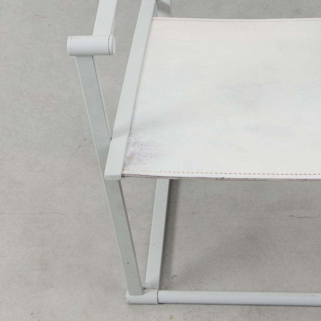 Radboud Van Beekum FM60 White Leather Cube Chair