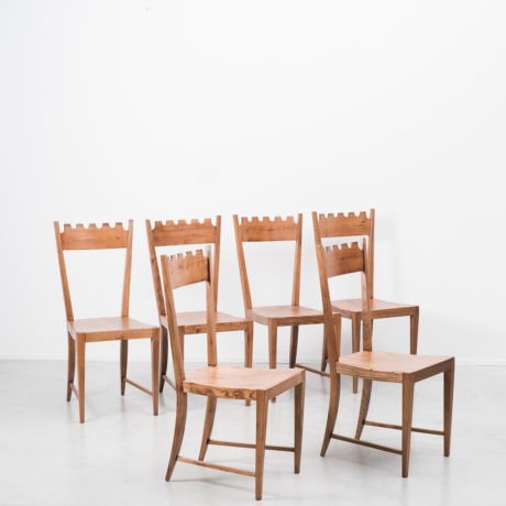 Wavy back chairs attr. Paolo Buffa