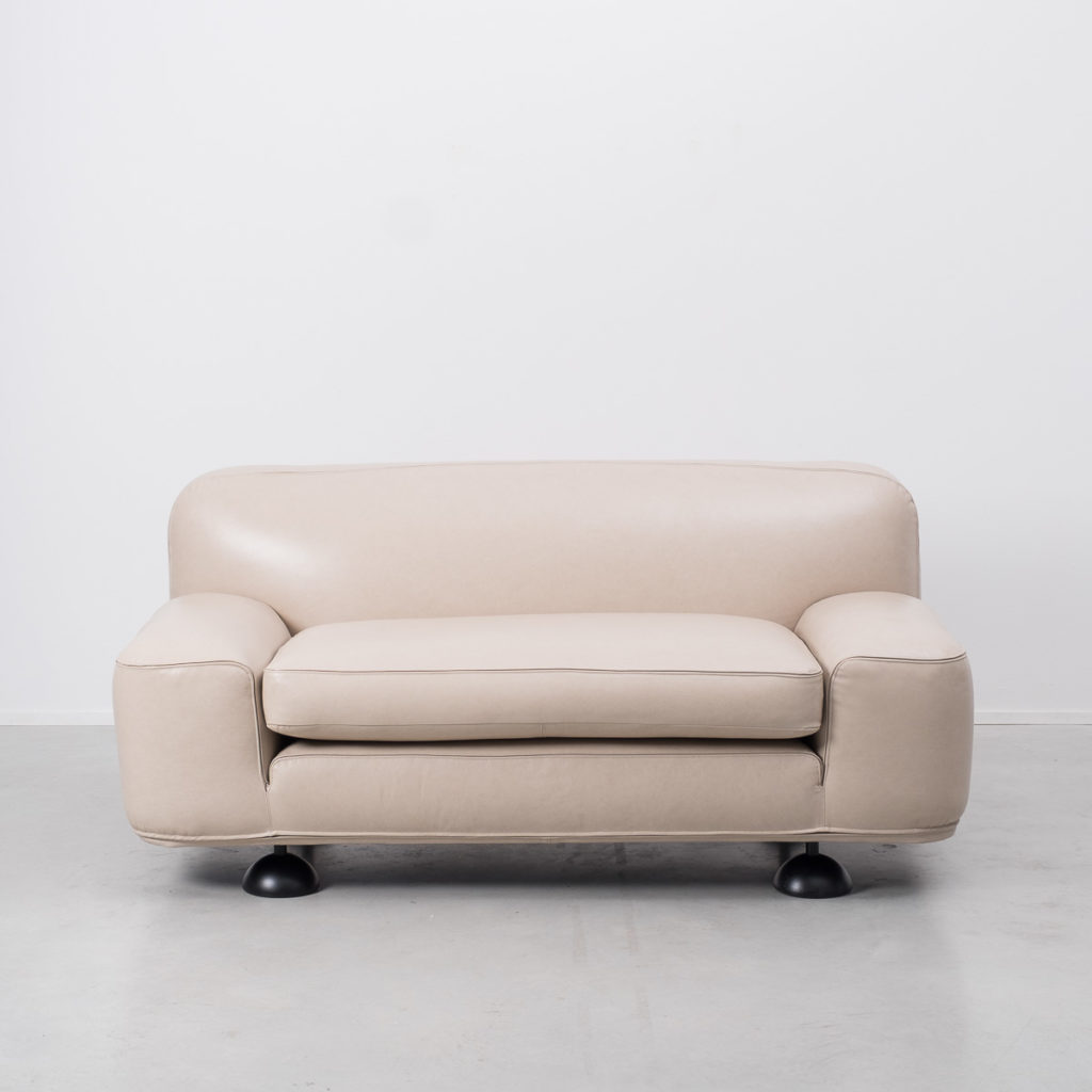 Franco Poli Altopiano two-seater leather sofa