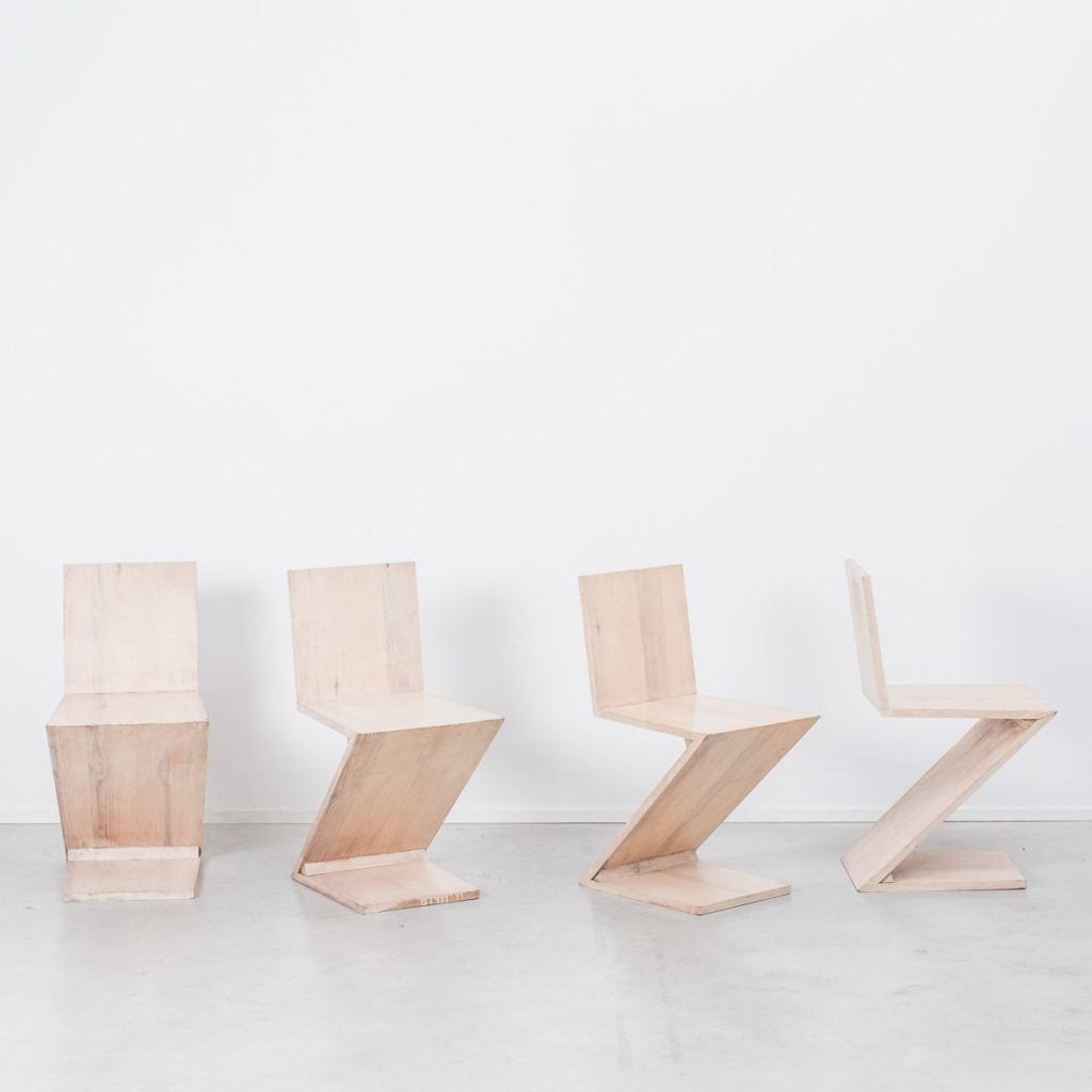 Zig Zag chairs, after Rietveld