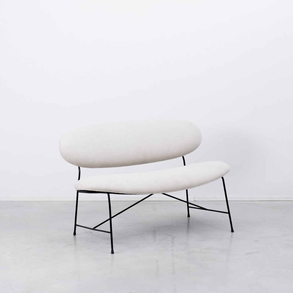 Wireframe sofa and footstool