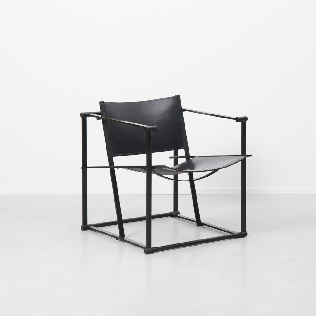 Radboud Van Beekum FM62 Black Cube Chairs