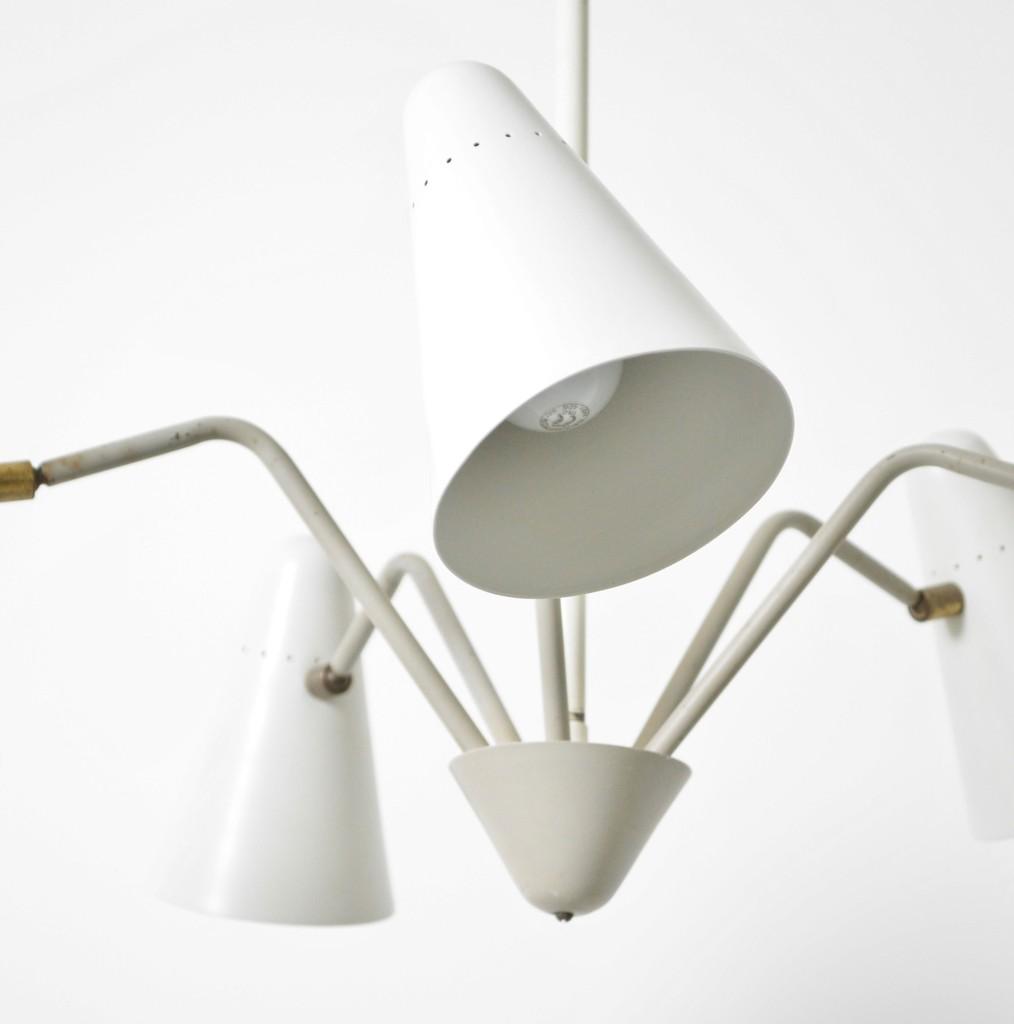 H Busquet midcentury chandelier